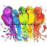 DIY-Animales Naturales Coloridos DIY Pintura por Números Pint por Número de Kits for Adultos Mayores Avanzada Niños Joven- sin Marco 30x40cm