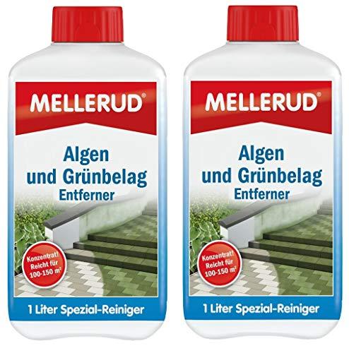 MELLERUD Algen- und Grünbelag-Entferner 1 | 2 | 4 Liter Konzentrat Reiniger (2 Stück)