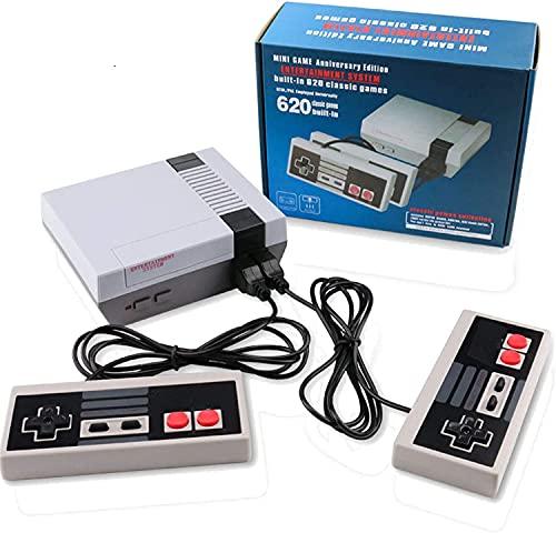 Plug Play klassische Mini-Spielkonsole, AV-Ausgang, Videospiel, integrierte 620 Spiele mit 2 Controllern (nicht OEM)
