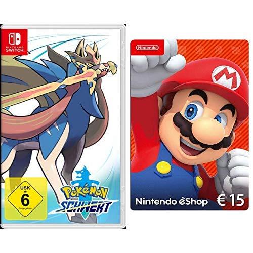 Pokémon Schwert [Nintendo Switch] + Nintendo eShop 15 EUR Guthaben [Download Code]
