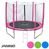 Jawinio Trampolin 305 cm (10F) Gartentrampolin Jumper Komplett-Set inkl. Leiter, Sicherheitsnetz und...