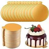 100 Pcs Mini Cake Boards,Vassoio Carta USA e Getta Cup,Cake Dessert Display Vassoio,Torta ...