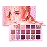 Thatso Eyeshadow Palette, 18 Colors Changeable Pink Violet Nude Matte Shimmer Eyeshadow Makeup Palette, High Pigmented Long Lasting Waterproof Eye Shadow Pallet (Pink)