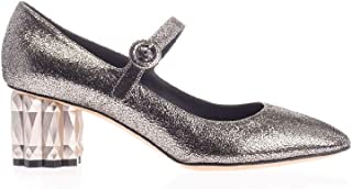 SALVATORE FERRAGAMO Luxury Fashion Womens 01Q032 Silver Heels | Fall Winter 19