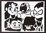 Poster Teen Titans Go! Handmade Graffiti Street Art - Artwork