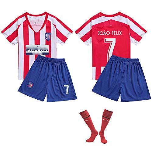 DDSC # 7 Félix Fußballuniform Trikot Jersey Trikotset,Outfit Kinder Kind Kurzarm Shorts Socken Trainingsbekleidung Wettbewerb Fan-Ausgabenweste-Top Hemd Whitered-16