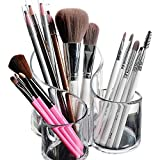 Bekith Large Wavy 3 Compartment Makeup Organizer Acrylic Multi-Purpose Makeup Brush and Co...