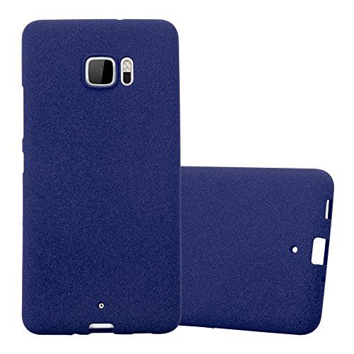 Cadorabo Coque pour HTC U Ultra en Frost Bleu FONCÉ - Housse Protection Souple en Silicone TPU avec Anti-Choc et Anti-Rayures - Ultra Slim Fin Gel Case Cover Bumper