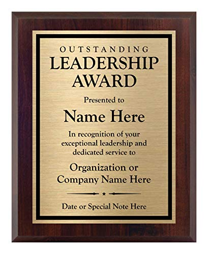 Customized Leadership Award- Plaque for Boss or Leader - Personalized - Customize Now! (8x10)