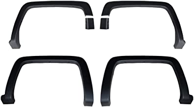 Premium Fender Flares for 2014-2018 Chevy Silverado 1500; 2015-2019 Silverado 2500HD 3500HD (Not for Sierra) | Fine-Textured Matte Black Paintable Factory Style 6pc
