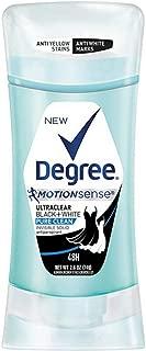 Degree UltraClear Black+White Pure Clean Antiperspirant Deodorant Stick, 2.6 oz (Pack of 2)