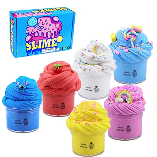 Fluffy Slime und, BESTZY Schlamm Spielzeug Ungiftig, Butter Slime Kit, Duft Entlastung Charme, Lehm Kinder Putty Spielzeug, Slime Kinder Putty Spielzeug