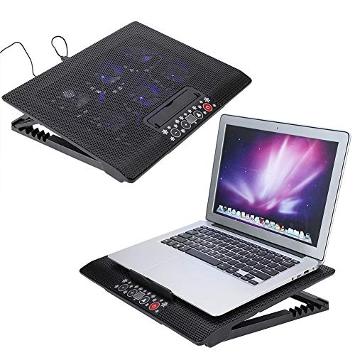 Tangxi Portable USB Powerd 6 LED Lüfter Laotop Cooling Pad, super leise Laptop Cooling Pad Basis für 17 Zoll/unter 17 Zoll Notebook, Einstellbarer Winkel Mounts Stand
