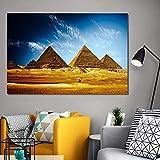 NIMCG Desierto de la pirámide egipcia Sala de Estar Pintura Decorativa Paisaje Cartel y Grabado Mural Arte Lienzo Pintura (Sin Marco) 20x30CM