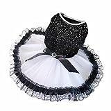 HP95(TM Fashion Pet Dog Puppy Tutu Dress Princess Fluffy Wedding Lace Skirt Clothes Apparel (XS)