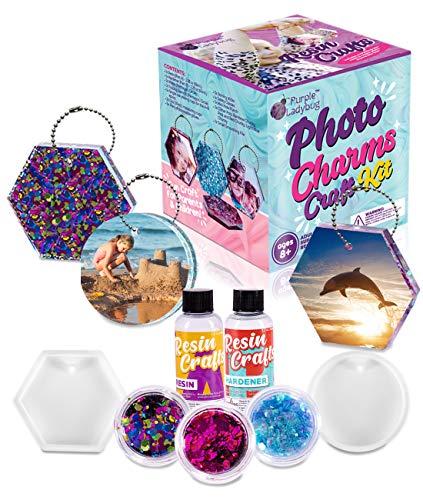 PURPLE LADYBUG Resin Craft Kit for Girls & Boys - Help Kids Create...