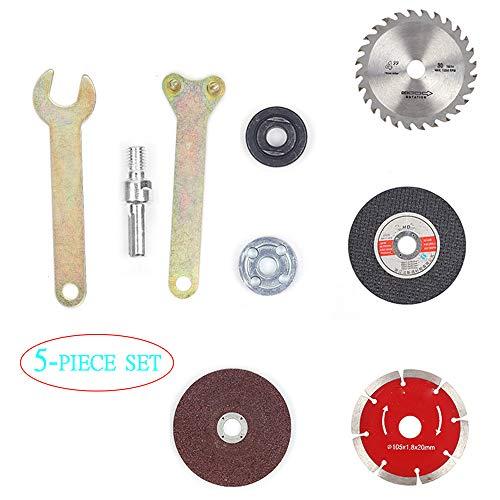 Amoladora angular taladro eléctrico manual, juego 5 piezas corte y pulido, disco...