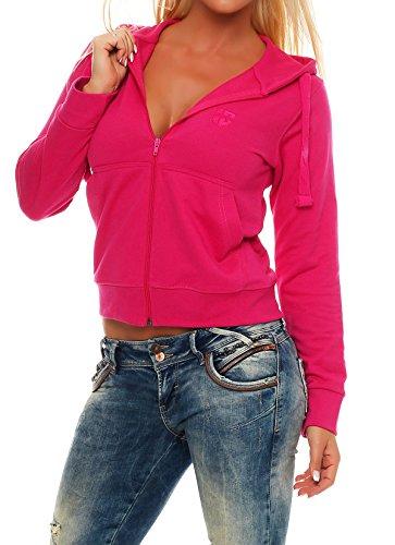 Gennadi Hoppe Sweatshirt Jacke Damen Trainingsjacke (L, Pink)