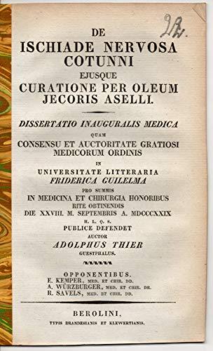 De ischiade nervosa cotunni eiusque curatione per oleum iecoris aselli. Dissertation.