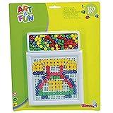 ART & FUN- Kit para Hacer Mosaicos con Cuentas de Colores, 15 X 13 cm, 120 Piezas (Simba 6305695)