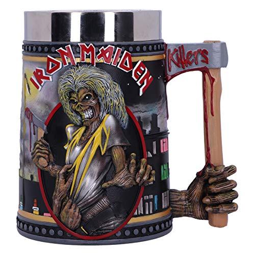 Nemesis Now Offizielles Lizenzprodukt Iron Maiden The Killers Eddie Album Bierkrug, Schwarz, 15.5cm