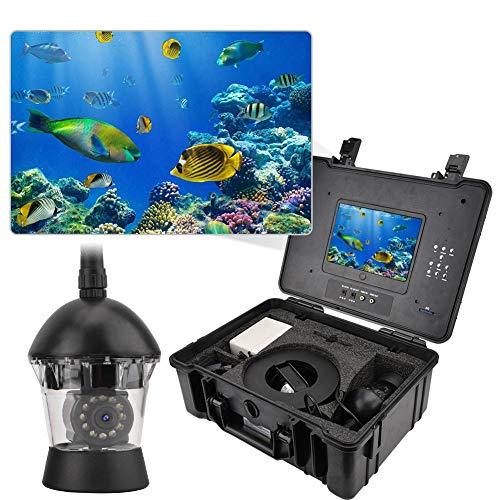 Onderwaterviscamera, 360 graden draaibaar, met 7 inch monitor, 700TVL videocamera, 20 m/30 m kabel, 7000 mAh accu, 12 ledlampjes voor vissen op ijs, op zee en boot, 30 m.
