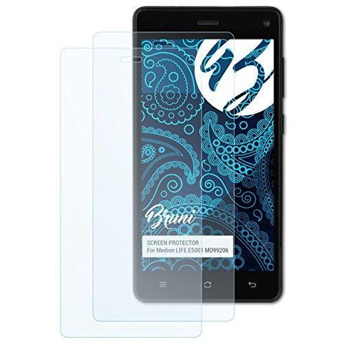 Bruni Schutzfolie kompatibel mit Medion Life E5001 MD99206 Folie, glasklare Bildschirmschutzfolie (2X)