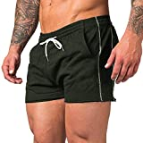 URRU Men's Gym Workout Shorts Weightlifting Squatting Short Fitted Training Bodybuilding Jogger with...