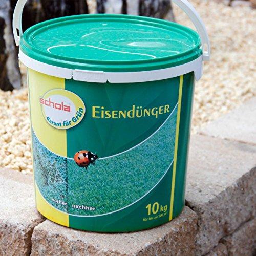 Schola Eisendünger | 10-kg-Eimer | gezielte Eisenversorgung für Rasen und Gehölze | Anwendung von März bis September