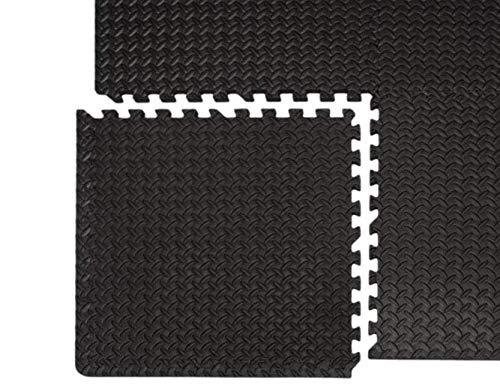 arteesol Trainingsmatten Puzzlematten Schutzmatten Set 18er Unterlegmatte Fitnessgeräte Bodenschutzmatten wasserdichte, Anti-rutsch Bodenauflagen Gymnastikmatten für Pool