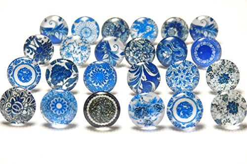 『Nadeju 24個 アラベスク 和柄 ガラス カボション ステンレス スタッド ピアス』のトップ画像