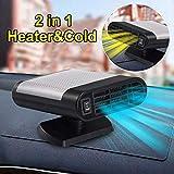 Achort Chauffage Voiture Ventilateur 12 V, 150 W, désembueur de Voiture Portable, Chauffage électrique avec Base rotative à 360 °
