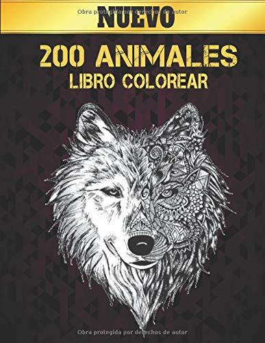 Libro Colorear Animales: Libro de colorear Diseños de animales para aliviar el...