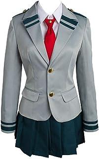 Boku no Hero Academia My Hero Academia Tsuyu School Uniform Cosplay Costume for Women Girls Lady