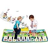 Alfombra de Piano Alfombrilla Musical Portátil Alfombrillas de Baile Alfombra Musical de Teclado Alfombrillas Juego Educativo Juguete Regalo para Niños (verde)