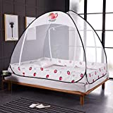 KE & LE Folding Mosquito Net, Portable Pop Up Tent Mesh Tent Mesh Canopy Curtains with Bottom Curtains with Bottom for Bed Home Bedroom Outdoor Camping-a W:180cmxh:150cmxd:198cm
