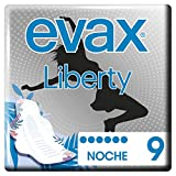 Evax Liberty Noche Compresas Alas, 9 unidades