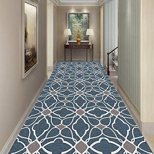Xuulan Hallway Hall Farmhouse rugs Runners, Very Long, Hardwearing Heavy Duty, Super Absorbent, Area Rug Non-Slip Large Door (Color : B, Size : 400x60cm)