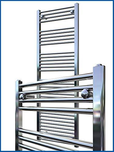 Radiador de baño LIDYA cromo 800 x 300 mm. recto toallero calentador de toallas