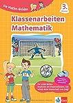Klett Klassenarbeiten Mathematik 3. Klasse: Lernzielkontrollen, Proben, Erfolgskontrollen, Tests wie in der Grundschule (Die Mathe-Helden)