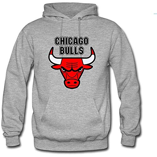 Timika Campbell Chicago Bulls Logo Custom Men's Pullover Hoodie Hooded Sweater Grey