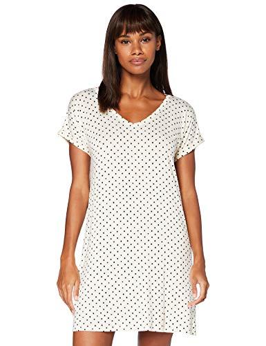 Iris & Lilly AMZ20SSG02 Camisones/Camisetas, Beige (Whitecap Grey Dot), 40
