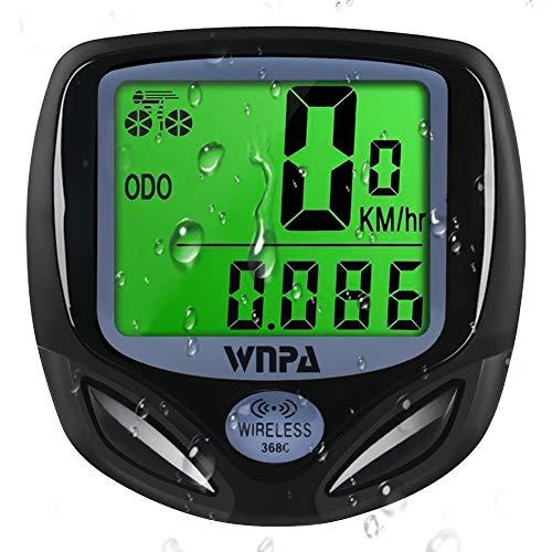 WNPA Bike Computer Wireless, Bike Speedometer Waterproof 16 Functions Odometer LCD Display for Cycling