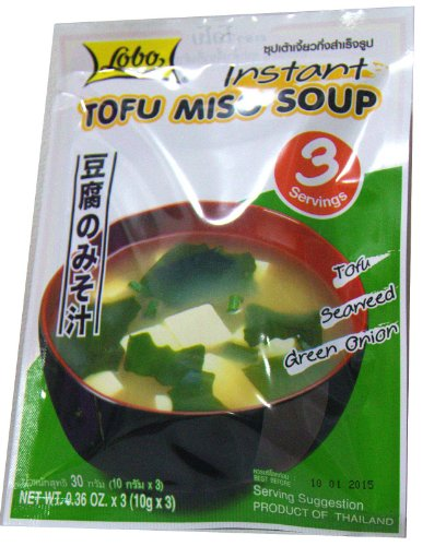 Comida instantánea japonesa – sopa de tofu miso, comida japonesa, estilo japonés 1.08 oz
