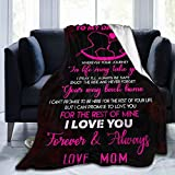 To My Daughter Blanket From Mom Custom Quilt Fleece Throw Blanket Ultra Soft Flannel Bed Blanket Warm Fuzzy Plush Blanket for Daughter Kids Reversible Tapestry Wall Hanging Birthday Fan Gift 50'X40'