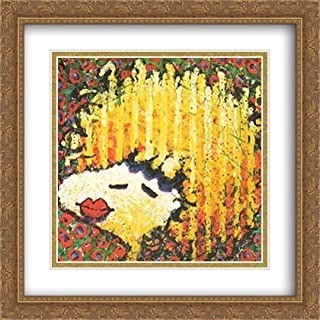 Bird Lips in a Blonde Bombshell Wig 2X Matted 28x40 Large Gold Ornate Framed Art Print by Tom Everhart