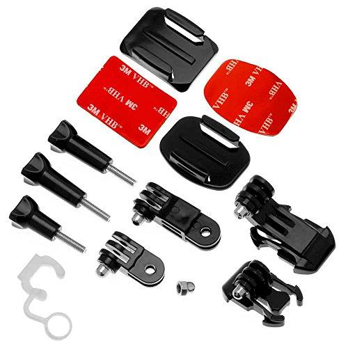 OcioDual Pegatina Soporte Casco Bici Moto Camara Accesorios para GoPro Hero 8 7 6 5 4 3 HD Black SJCAM 4000 Xiaomi Yi 4K Set Kit