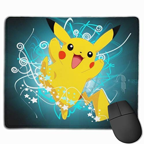 JWDB Anime Po-ké-mon Pikachu Mouse Pad Gaming Mouse Pads Non-Slip Water-Resistant Rubber Mouse Mat for Office Laptop, Computer & Pc 9.8x11.8 inch