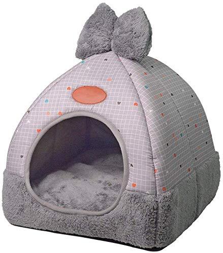 Huis voor puppies voor puppies van kat, 2-in 1 huisdier bed Onafhankelijke verwarming Hond kat Kitty Triangle Puppy Grot Mand voor dieren Nest met verwijderbaar kussen (Kleur: A, Afmetingen: M31CM * 31CM * 35CM), L36CM*36CM*40CM, C