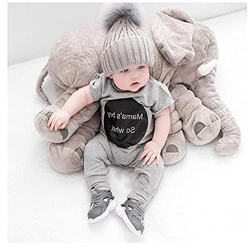 almohada plagiocefalia,cojin mimos,cojin infantil,suave,Almohada de elefante bebé de 60 cm, cojín de elefante pequeño confiable y lindo, juguete de elefante divertido para niños